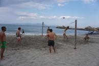 '' on the beach ''