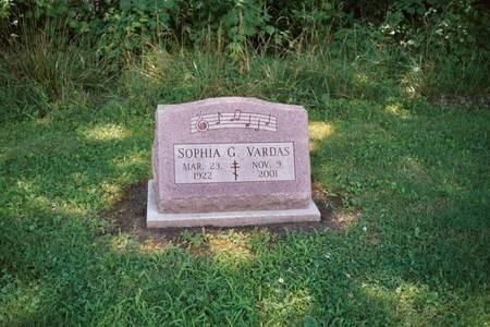 Gravestone of Sophia G. Vardas, Gettysburg, PA, USA