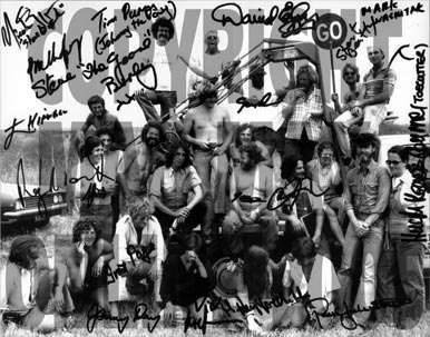 Autographed Photo – Crew of Mad Max 1. Director, George Miller.