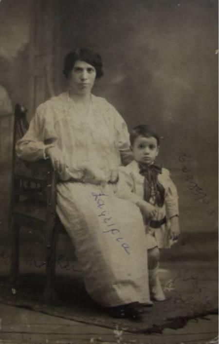 Zaferia Coroneos Alfieris with son Evangelos