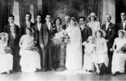 Wedding in 1932 at Townsville of George..